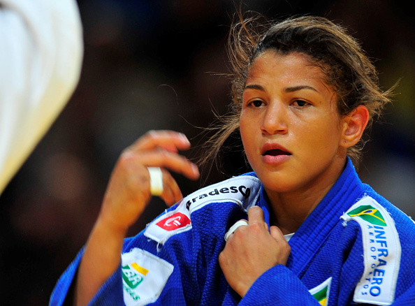 PARIS, FRANCE - FEBRUARY 06: London Olympic champion, Sarah Menezes of Brazil eventually won the u48kg (extra-lightweight) bronze medal during the 2016 Paris Judo Grand Slam February 6, 2016 at the AccorHotels Arena, Bercy, Paris, France. (Photo by David Finch/Getty Images)