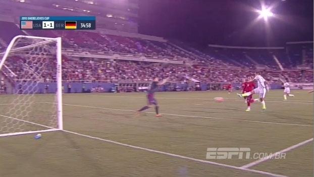 Americana faz golaço contra a Alemanha em torneio nos EUA