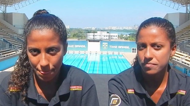 Gêmeas dos saltos ornamentais comentam disputa por vaga nas Olimpíadas do Rio