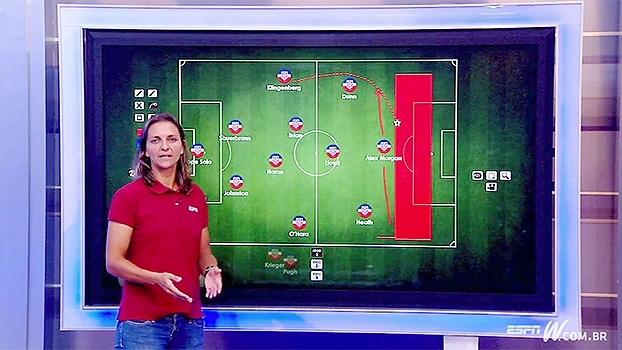 Ju Cabral analisa esquema da seleção feminina de futebol dos EUA e mostra ponto chave do ataque com Morgan