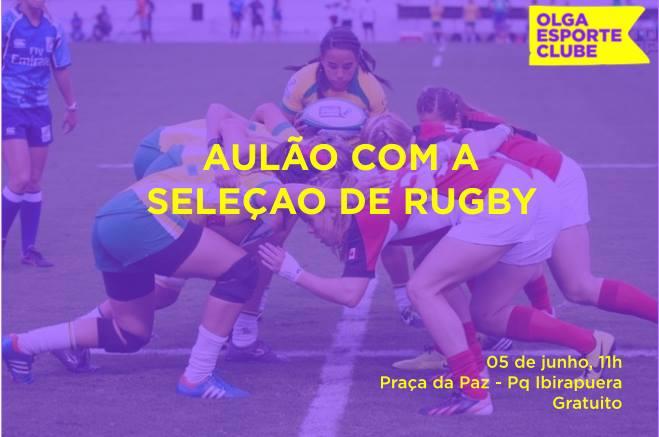 Olga Esporte Clube organiza aulão de rugby com a seleção brasileira