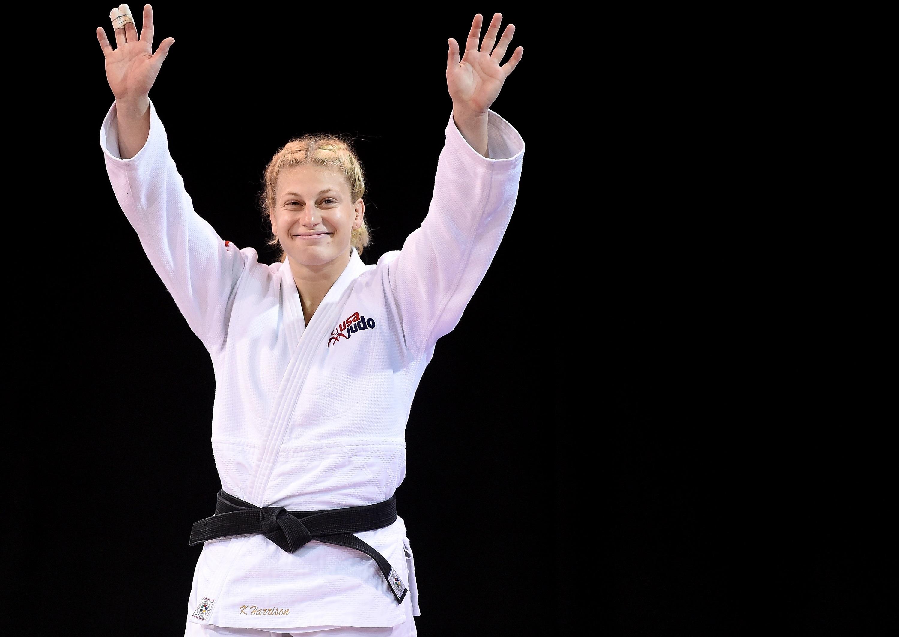 """Dona do primeiro ouro olímpico dos EUA no Judô, Kayla Harrison diz que está """"um pouco cansada"""", mas muito preparada para os Jogos Olímpicos"""