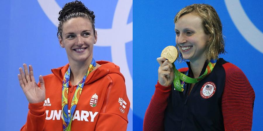 28 anos depois, Natação tem duas nadadoras com três ouros individuais em uma edição olímpica