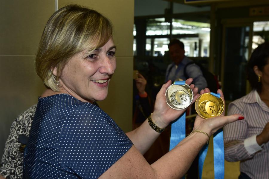 Mãe de Arthur Zanetti comandará a Federação Paulista de Ginástica pelos próximos quatro anos