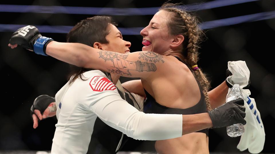 Com primeira vitória no UFC, Nina Ansaroff mostra que é mais do que 'namorada de Amanda Nunes'