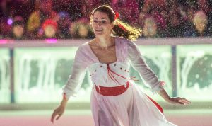 NEW YORK, NY - DECEMBER 01: Figure skater Nancy Kerrigan performs during the 2015 Bryant Park Christmas tree lighting at Bryant Park on December 1, 2015 in New York City. (Photo by Noam Galai/Getty Images)