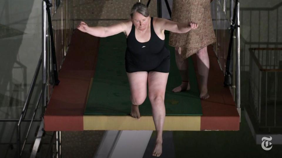 Saltar ou não saltar, eis a questão levantada pelo curta-metragem 'Ten Meter Tower'