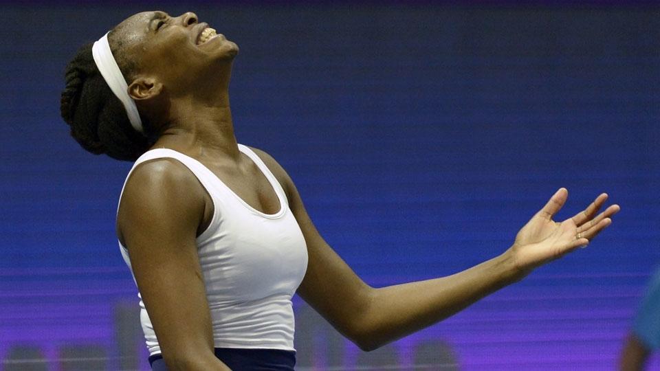 Venus Williams é eliminada em menos de uma hora na estreia em São Petersburgo