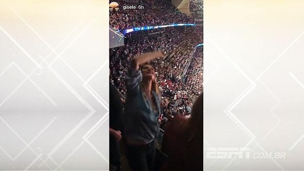 'Miga, sua louca'! Gisele Bundchen vai à loucura no NRG Stadium com vitória dos Patriots no Super Bowl LI