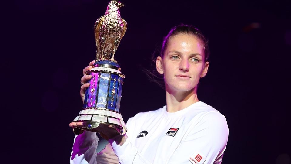 Pliskova supera Wozniacki e é campeã do Premier de Doha