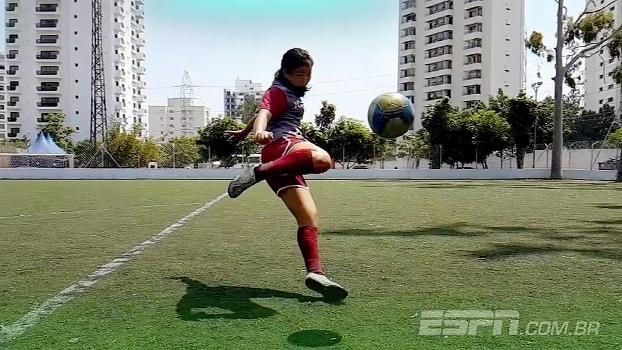 Repórter da ESPN entra em campo e mostra como jogadoras do Juventus mantêm vivo o sonho de jogar bola
