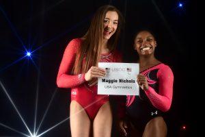 Maggie Nichols e Simone Biles foram colegas de equipe pelos EUA (Getty Images)