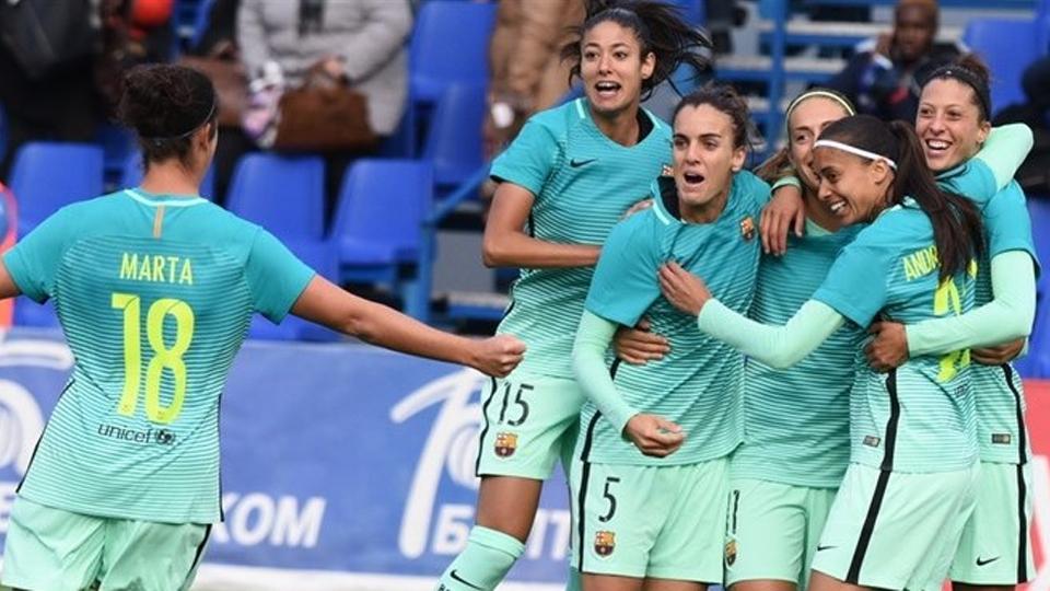 Abertura das quartas de final da Champions feminina tem duelo entre brasileiras, gol de aniversariante e vitória do Barcelona