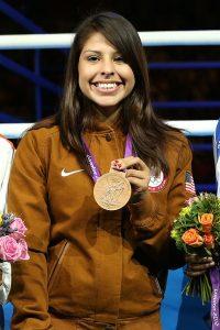 Marlen com a medalha de bronze que ganhou em Londres 2012 (Getty Images)