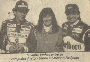 Ela teve o privilégio de entrevistar ídolos como Ayrton Senna (Reprodução Facebook)