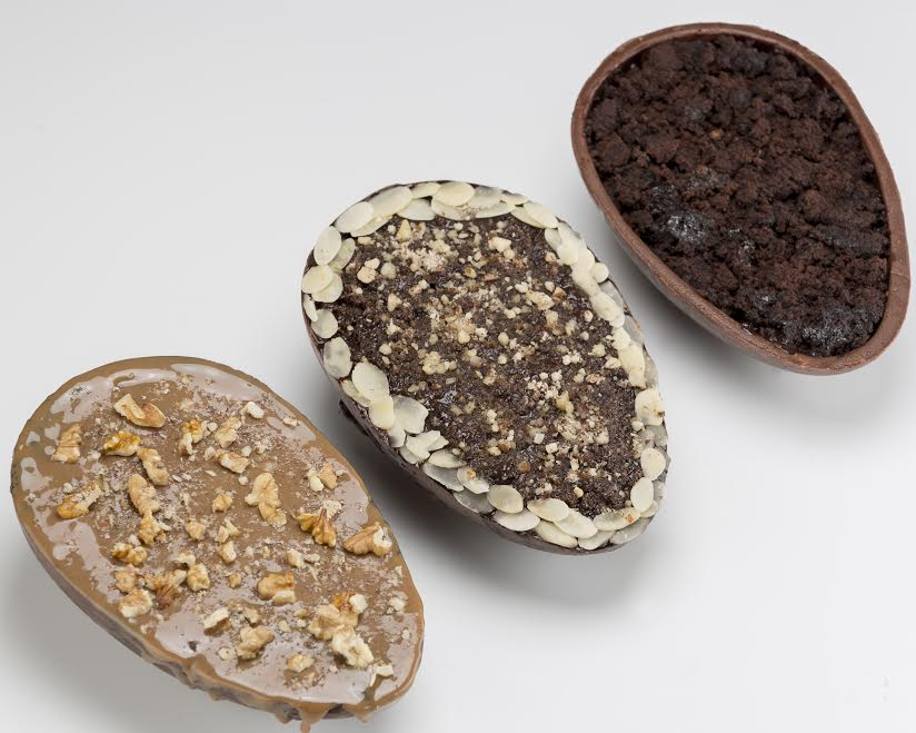 As opções dos ovos de colher são: brownie, bem casado, bolo de cenoura e pão de mel, com brigadeiro ou doce de leite (Divulgação BB Fit)