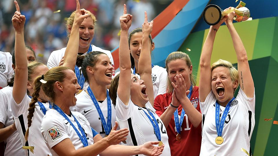 No futebol, mulheres e homens são iguais… ao menos nos EUA