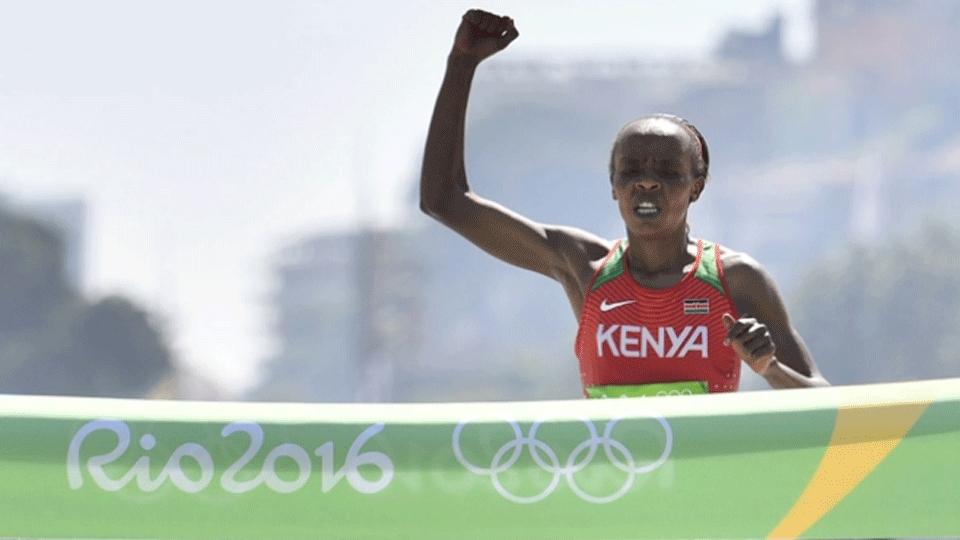 Ouro na maratona da Rio 2016, Jemima Sumgong é pega em exame antidoping
