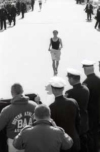 Track & Field: Boston Marathon: USA Roberta Gibb in action during end of race on Boylston Street. Bobbi Gibb becomes the first woman to run and complete race. Boston, MA 4/19/1966 CREDIT: Fred Kaplan (Photo by Fred Kaplan /Sports Illustrated/Getty Images) (Set Number: X11588 TK1 C7 F22A )