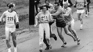 Kathrine Switze foi agredida por participar da Maratona de Boston (Getty Images)