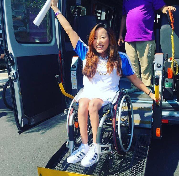 Julie conduziu a tocha olímpica (Arquivo Pessoal)