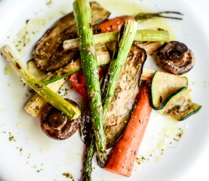 Plate of Grilled Vegetables