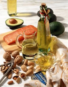 Various Sources of Oils / Avocado, Nuts & Fish