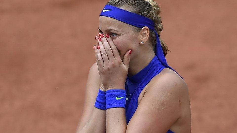 Kvitova vence em Roland Garros no primeiro jogo após ser esfaqueada