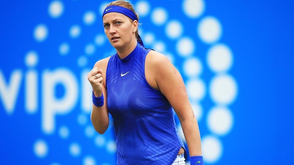 No 2º torneio após ser esfaqueada, Kvitova chega à final em Birmingham