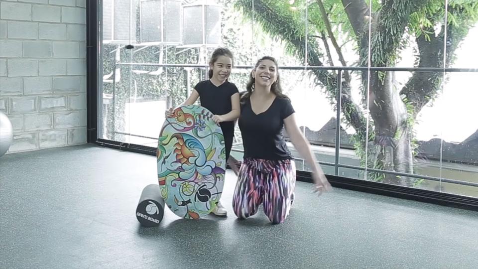 Spino Board, pratique com o seu filho!