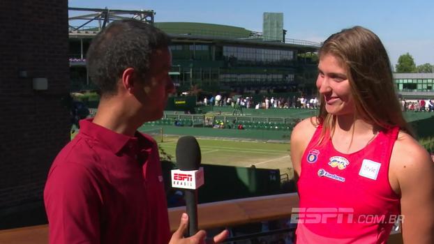 Bia Haddad exalta sua dupla após se classificarem às oitavas de Wimbledon: 'Estamos fazendo o básico da melhor forma'