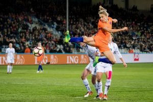 Vivianne Miedema of the Netherlandsduring the friendly match between the women of Netherlands and Iceland at the Vijverberg stadium on April 11, 2017 in Doetinchem, The Netherlands(Photo by VI Images via Getty Images)