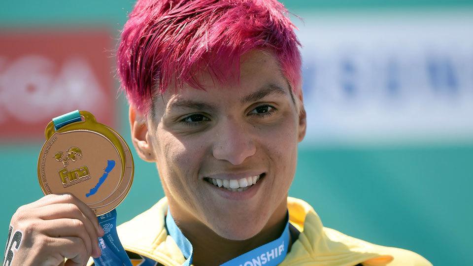 Ana Marcela conquista mais uma medalha para o Brasil no Mundial de Esportes Aquáticos