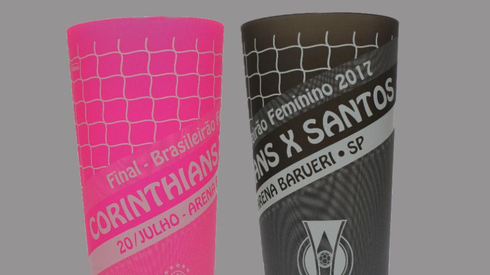 Finalíssima do Brasileirão feminino terá copos temáticos especiais