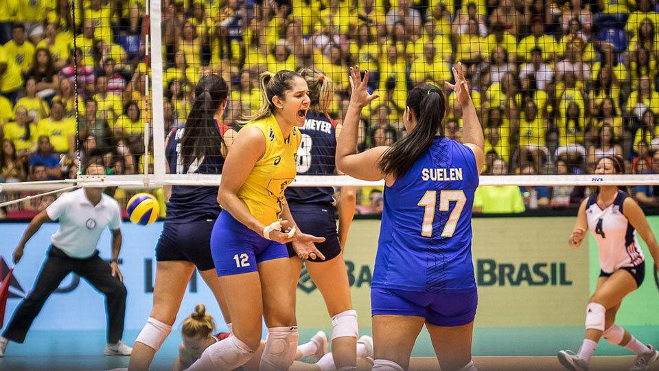 Brasil supera Estados Unidos e vai às finais do Grand Prix de vôlei