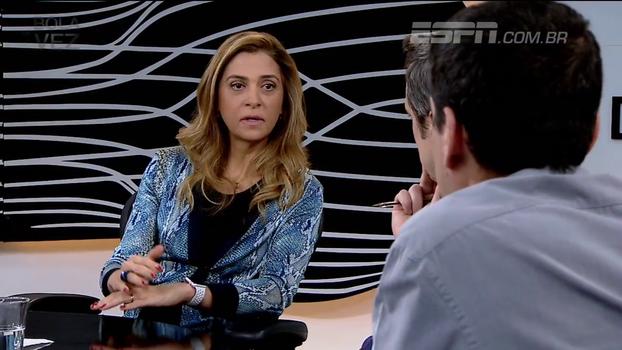 Leila Pereira: 'Minha luta é para que o Palmeiras nunca dependa de patrocinador nenhum'