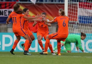 during the UEFA Women's Euro 2017 Group A match between Belgium and Netherlands at Koning Willem II Stadium on July 24, 2017 in Tilburg, Netherlands.