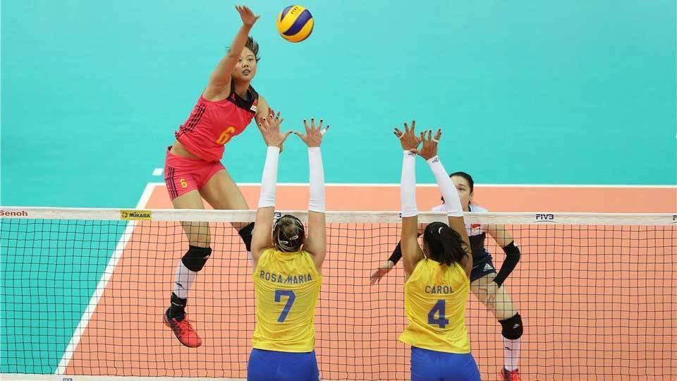 Brasil é dominado pela China e estreia com derrota na fase final do Grand Prix de vôlei